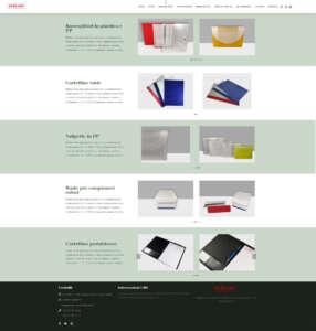 Pagina prodotti | siti web vetrina