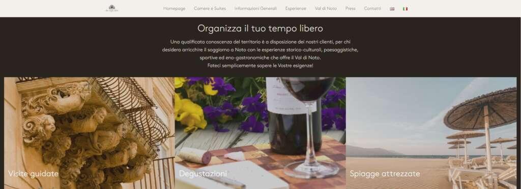 Siti web Vetrina | San Carlo Suites, Noto